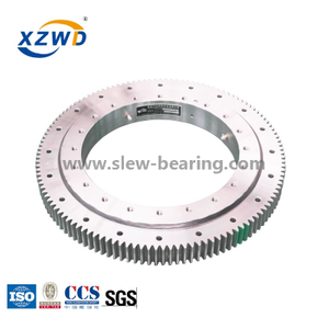CCS Certificated Ball Bearing Turntables And Slewing Rings with External Gear for Harbour Machinery