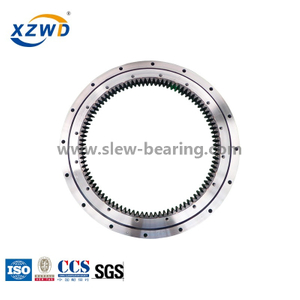 Single Row Four Point Contact Ball Slewing Bearing (HS) Internal Gear for ship crane